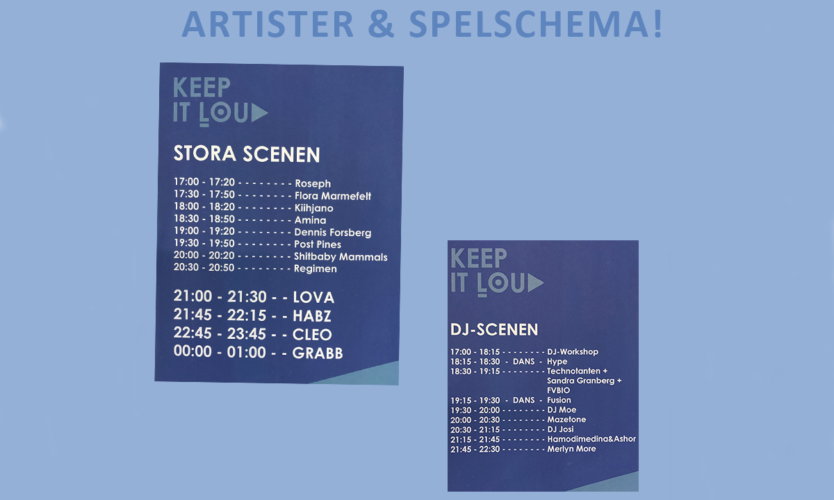 spelschema keep it loud