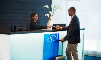 Sky Hotel Apartments reception