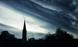 Linkopings Cathedral in stormy weather