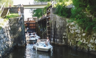 Leisure boats that have been in Hovetorp's lock