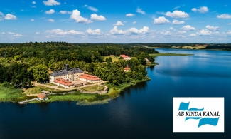Picture taken from a drone over Kinda kanal and Sturefors castle in Östergötland